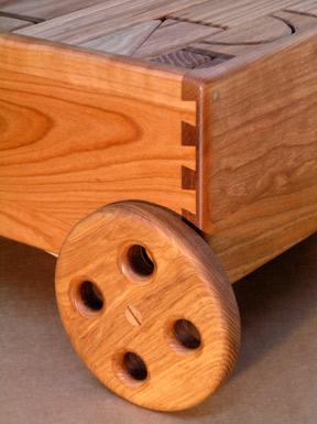 dovetail joinery on block wagon
