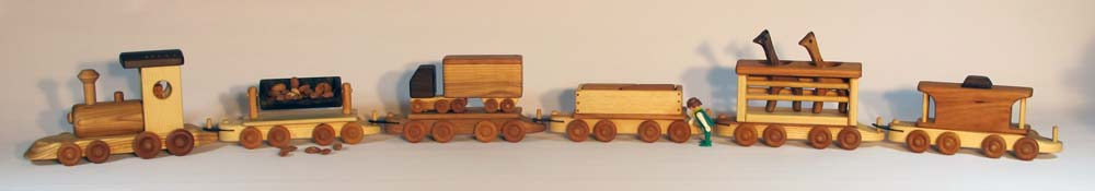 Handmade wooden train set with block puzzles by Mr Crafty classic toys wooden toy for toddler